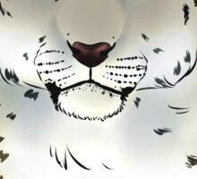 The Snow Leopard - Bust Sticker