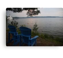 Muskoka Chairs Canvas Print
