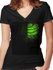 Your Soul - Green - Kindness Women's Fitted V-Neck T-Shirt