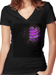 Your Soul - Purple - Perseverance Women's Fitted V-Neck T-Shirt