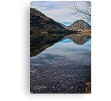 Reflections on Lake Selfe, Canterbury, New Zealand Canvas Print
