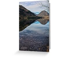 Reflections on Lake Selfe, Canterbury, New Zealand Greeting Card