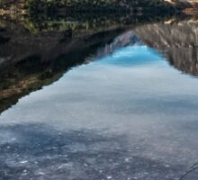 Reflections on Lake Selfe, Canterbury, New Zealand Sticker