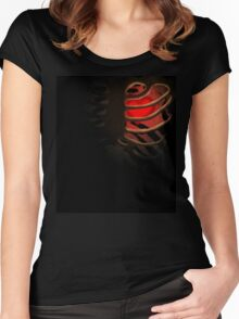 Your Soul - Red - Determination Women's Fitted Scoop T-Shirt