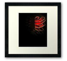 Your Soul - Red - Determination Framed Print
