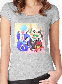 Sun / Moon Starters Women's Fitted Scoop T-Shirt