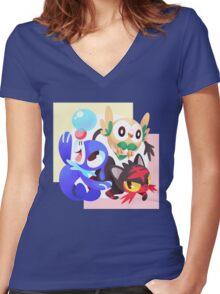 Sun / Moon Starters Women's Fitted V-Neck T-Shirt