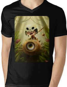 Cyclops Spider Mens V-Neck T-Shirt