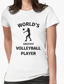 World's Greatest Volleyball Player Womens Fitted T-Shirt