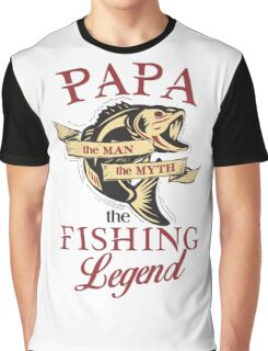Papa loves fishing  Graphic T-Shirt