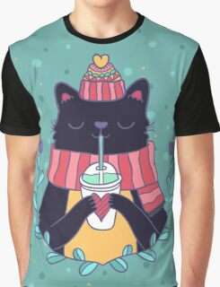 Winter cat Graphic T-Shirt