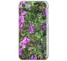 Green bush with purple flowers. iPhone Case/Skin