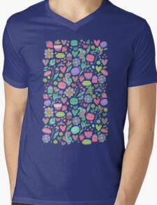 Macarons and flowers Mens V-Neck T-Shirt