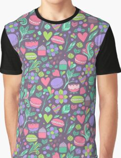 Macarons and flowers Graphic T-Shirt