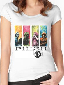 phish band concert white 2016 rizki Women's Fitted Scoop T-Shirt