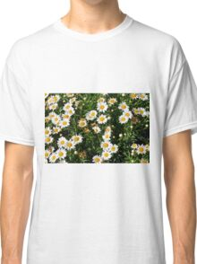 Green bush with white flowers. Classic T-Shirt