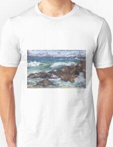 Flynns Beach rocks & surf  Unisex T-Shirt