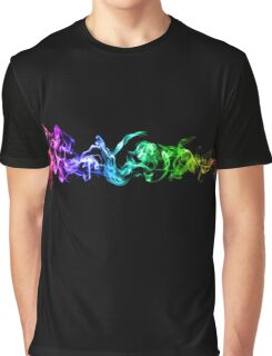Colorful Abstract Smoke - A Rainbow in the Dark Graphic T-Shirt
