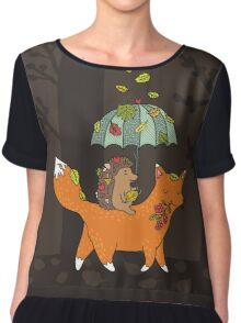Hedgehog and fox Chiffon Top