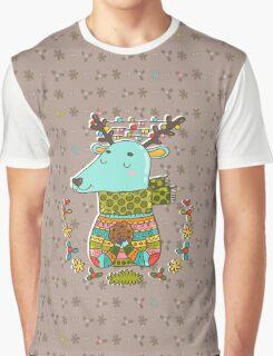 Winter deer Graphic T-Shirt