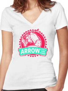 An Arrow In The Knee Women's Fitted V-Neck T-Shirt