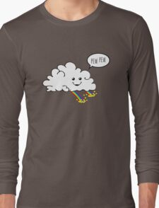 Friendly Cloud : Why there's a pot of gold at the end of every rainbow Long Sleeve T-Shirt