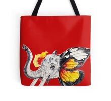 L'éléphant Magnifique Red Tote Bag