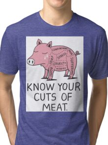 KNOW YOUR CUTS OF MEAT Tri-blend T-Shirt