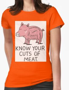 KNOW YOUR CUTS OF MEAT Womens Fitted T-Shirt