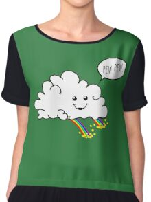 Friendly Cloud : Why there's a pot of gold at the end of every rainbow Chiffon Top