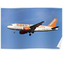 EasyJet, Airbus A319-111 in flight  Poster