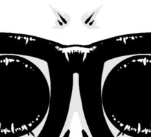 Nerd Skull Sticker