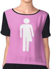 Trans Figure Chiffon Top