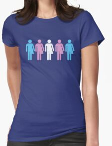 Trans Pride Figures Womens Fitted T-Shirt