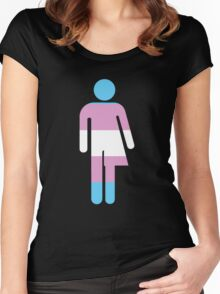 Trans Stick Pride Figure Women's Fitted Scoop T-Shirt