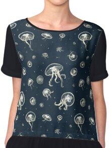 Jellyfish Pattern Chiffon Top