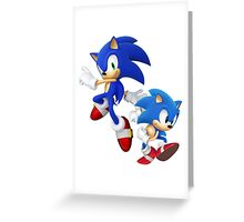 Sonic - Modern & Classic Greeting Card