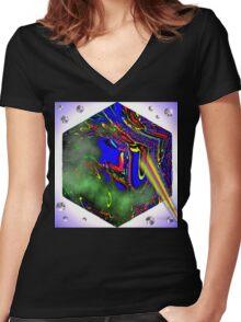 Bubble Zapper Women's Fitted V-Neck T-Shirt