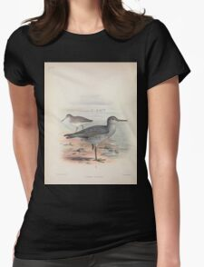 Aves Hawaiienses the birds of the Sandwich Islands Scott Wilson 1899 050 Totanus Incanus T-Shirt