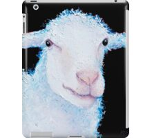 White sheep on black iPad Case/Skin