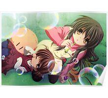 Ushio And Nagisa Bubble Poster