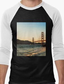 Golden Gate Bridge, San Francisco Men's Baseball ¾ T-Shirt