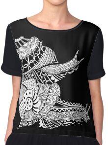 Snails Boho Illustration Chiffon Top