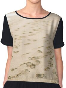 man on the beach Chiffon Top