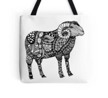 Ram Sheep Illustration Tote Bag