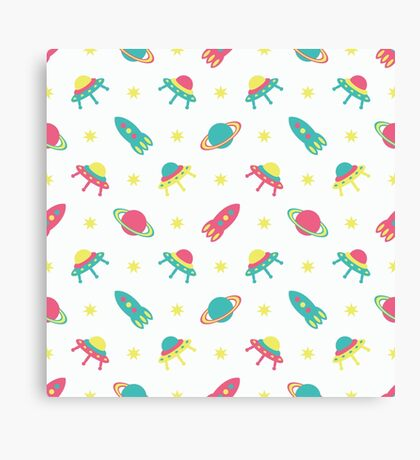 Kids cosmos cute pattern Canvas Print