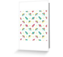 Kids cosmos cute pattern Greeting Card