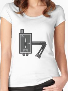 Retro RF switch Women's Fitted Scoop T-Shirt