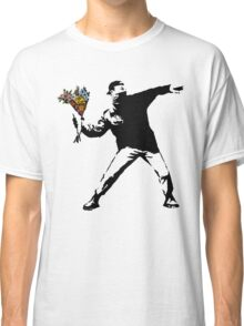 Banksy - Rage, Flower Thrower Classic T-Shirt