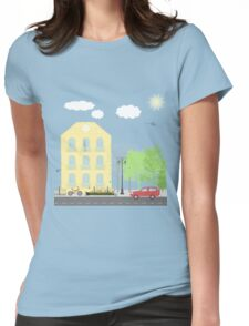 Urban scene Womens Fitted T-Shirt
